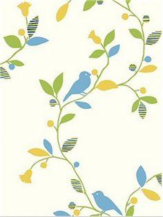 Bird on a Vine Wallpaper EH61902 $43.08