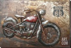 Ride the Route Metal Wall Art at Art.com