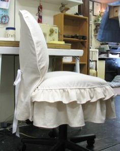Office Chair Slipcover - I Should SOOO do this at WORK LOL ( boys would LOVE it !! ) NOT