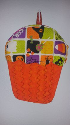 Cupcake Potholder Halloween Potholder Fall by SewPinkDragon