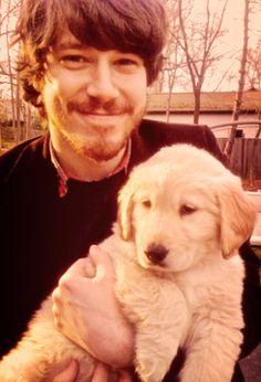 John Gallagher Jr. with a puppy... my heart just melted a little bit inside.... ;) ;)