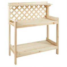 One of my favorite discoveries at ChristmasTreeShops.com: Pinewood Lattice-Back Potter's Bench