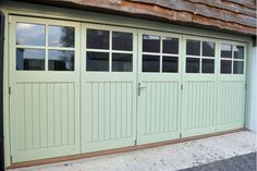 Garage - Bi-Fold Doors - TGV glazed panes) - Our handmade doors and frames are made from the finest quality hardwoods and softwoods with stainle - Side Hinged Garage Doors, Double Garage Door, Sliding Garage Doors, Carriage House Garage Doors, Garage Door Windows, Modern Garage Doors, Glass Garage Door, Garage House, House Front