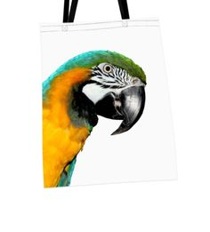 "Shoulder Bags -Bag not only for shopping, perfect gift for animal lovers, printed shopping bag, cotton, animal print – ""parrot"" bag – a unique product by ATdesign via en.dawanda.com"