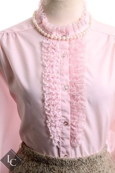 Vintage 1960's Rhapsody Powder Pink Button Down by LondonCouture, $10.00