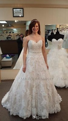 Plus size Sweetheart sleeveless lace bridal gown wedding dress custom size  - BUY NOW ONLY 106.0 1c31b52010db