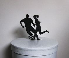 Wedding Cake Topper - Soccer Football, Soccer players wedding