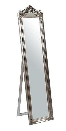 Specchio cornice bianca specchiera da terra appoggio shabby | IDEE ...
