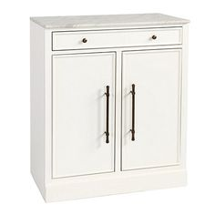 """Paulette Cabinet with Marble Top - Ballard Designs.  Also available in Gray with Cream Interior.  31-1/2""""W x 18""""D x 35-3/4""""H.  $899 retail."""