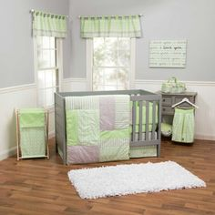 Lauren 4 Piece Baby Crib Bedding Set with Bumper by Trend Lab Trend Lab on amazon $145