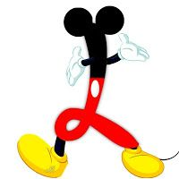 Alfabeto original inspirado por Mickey Mouse.