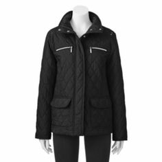 Croft & Barrow Solid Quilted Jacket - Women's