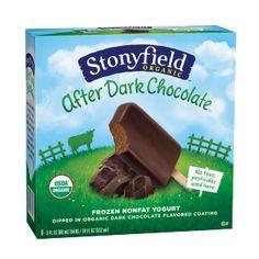 Stonyfield After Dark Chocolate - Organic Frozen Yogurt Bars - 6-pack