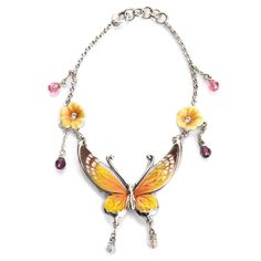 Butterfly Porcelain Bracelet from the Franz Collection