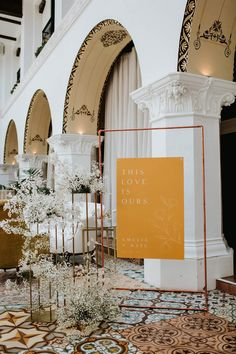 Ethereal bridal inspiration (with a pink dress!) at the Ebell Long Beach Layer Cake) Event Signage, Wedding Signage, Seating Plan Wedding, Seating Plans, Wedding Table, Diy Wedding, Wedding Reception, Ebell Long Beach, Rental Wedding Dresses