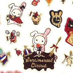 cute Sentimental Circus stickers San-X sweets