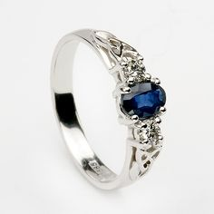 In the symbolic language of jewels, a sapphire in a wedding ring means marital happiness.