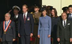 Prince William  Kate sing the national anthem as they join veterans in commemorating the 70th anniv of D-Day #DDay70
