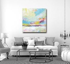 Landscape Canvas Giclee Print Wall Art Abstract by Tamarrisart