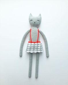Crochet cat by Melosina