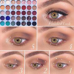 Jaclyn Hill Eyeshadow Palette, Morphe Eyeshadow, Jaclyn Hill Palette, Eyeshadow Makeup, Eyeshadows, Makeup Goals, Makeup Inspo, Makeup Inspiration, Makeup Tips