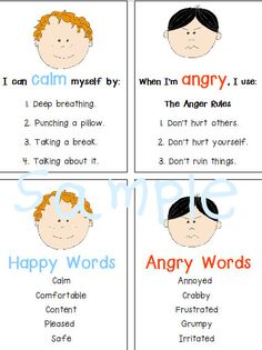 Autism Special Needs Power Cards Anger by Ellemenopotomus on Etsy