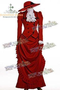 I found 'Black Butler Madame Red Cosplay' on Wish, check it out!