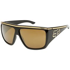 Fox Racing The Rayavanna Women's Casual Sunglasses - Polished Black/Gold Iridium / One Size Fits All