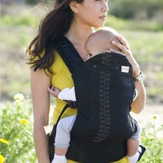 "becco butterfly 2-My fav carrier when they're little...wear on front or back. the baby has a little""pocket"" you put the baby in first, so it's easier to get baby on your back by yourself"