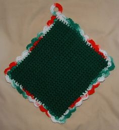 free crochet potholder patterns easy | EASY CROCHET POTHOLDER PATTERN | Crochet and Knitting Patterns