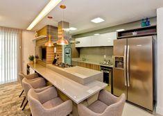 Modern Kitchen Cabinets, Kitchen Dining, Kitchen Decor, Kitchen Island Booth, Hobby Design, Apartment Kitchen, Decoration, Sweet Home, Room Decor