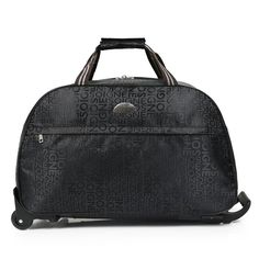 Portable Luggage Duffel Bag Gray Christmas Elements Travel Bags Carry-on In Trolley Handle