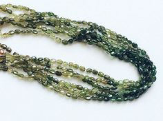 Green Tourmaline Beads Green Shaded Tourmaline by gemsforjewels