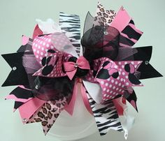 Minnie Mouse Stacked Boutique Triple Girls Hair Bow Baby Headband Minnie Band
