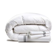 E. Jay Bedding Co. - Cozy Bedding Bundles - Touch of Modern White Down Comforter, Hotel Bed, Warm In The Winter, Linen Bedding, Bed Linens, Cozy Bed, Pent House, Innovation Design, Duvet Cover Sets