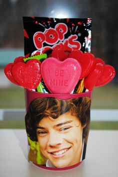 Another great 1D favor - use it on Valentine's Day, or at any other 1D One Direction Party #onedirectionpartyfavor #1D #1Dpartyfavor use our idea or create your own www.partiestogrow,com