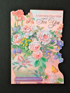 Vintage Mother s Day Embossed Die Cut Greeting by VintageBlend Die Cutting 2bc830876899