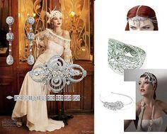 Deco ideas www.vintagebridaljewellery.co.uk Wedding Accessories, Ladder Decor, Jewlery, Art Deco, Bridal, Pattern, Inspiration, Vintage, Beautiful