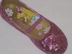 Toddler Girls` Disney Princess Glitter Ballet Flats Shoes - Pink Size 10