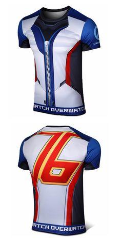 Overwatch Soldier 76 Short  T-shirt