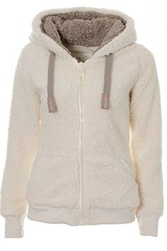 Details about Ladies Womens Soft Fluffy Fleece Hooded Winter Warm ...
