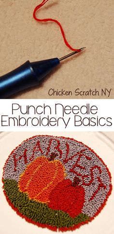 Learn the basics of punch needle embroidery - bordado chino o magico
