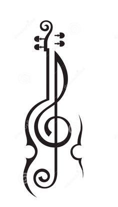 Treble cleff violin