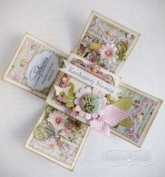 gift for mother Scrapbook Box, Exploding Box Card, 3d Cards, Scrapbooks, Mother Gifts, Cardmaking, Origami, Decorative Boxes, Miniatures