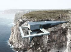 "(""Beyond the Edge"" is our proposal for an international architecture competition –  a Site Landmark located in Sagres, Algarve, Portugal.) The site landmark is meant to mark the wilderness and the boundlessness of the..."