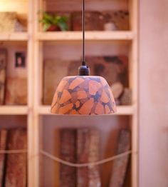 Flask lampshade terracotta pressed terracotta lampshade aloadofball Choice Image