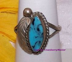 3d92c63a0 Items similar to Sterling Silver Turquoise Ring, Blue Green Teal Tribal  Native Primitive Rustic Southwestern Vintage Fashion Designer Fine Jewelry  on Etsy