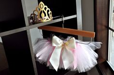 How adorable is this tutu and crown combo!  That bow!  And loving the price!