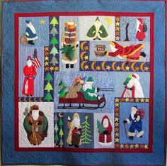 Applique Christmas quilt by Marjory Peck | Peck's Pieces