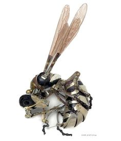 A scrap metal wasp by Eduard Martinet